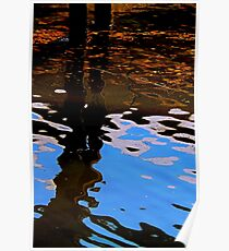 Reflecting on Dock and Sky Poster