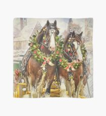 Christmas Clydesdales Scarf