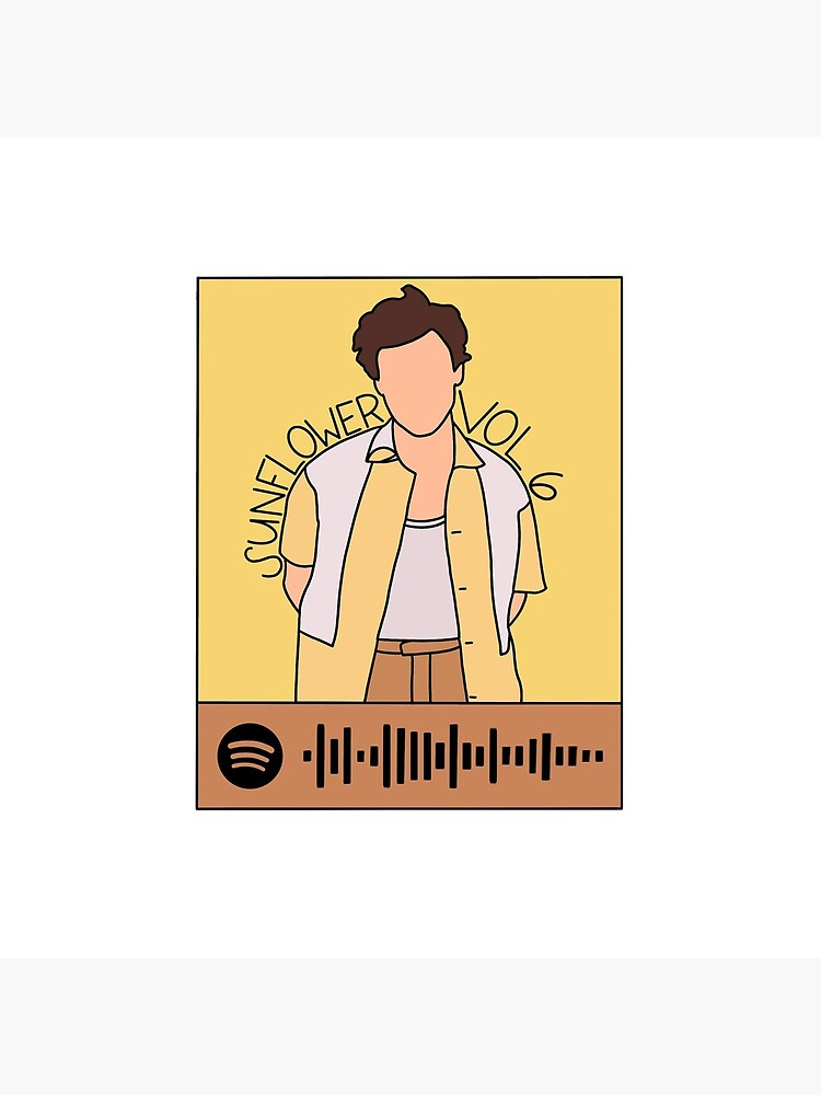 """Sunflower Vol 6 Harry Styles Spotify Code"" Throw Pillow ..."