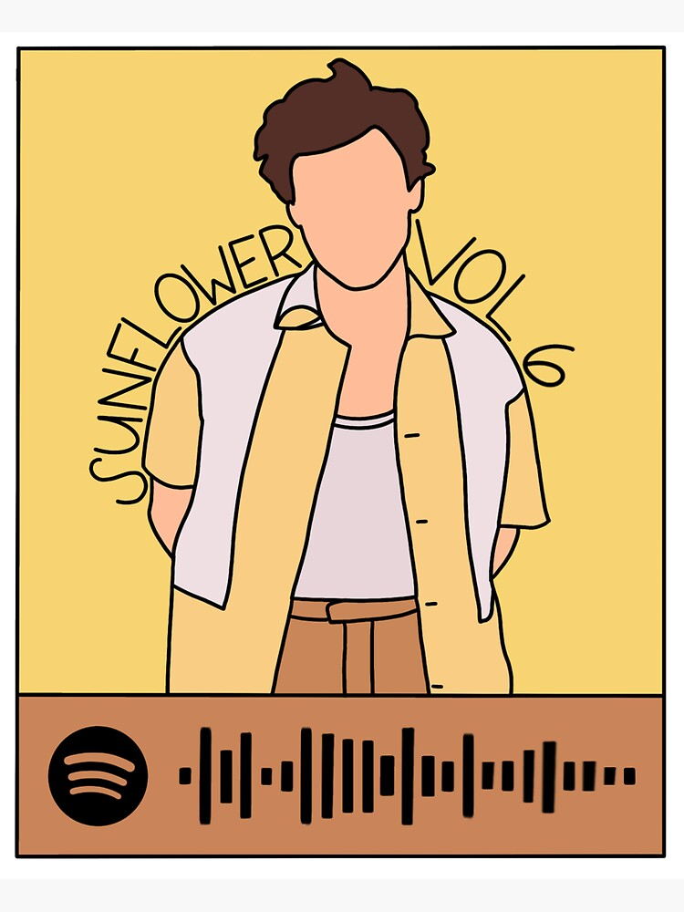 """Sunflower Vol 6 Harry Styles Spotify Code"" Sticker by ..."