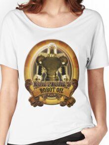 Mortimors Robot Oil. Women's Relaxed Fit T-Shirt