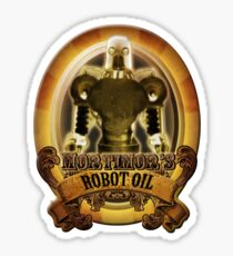Mortimors Robot Oil. Sticker