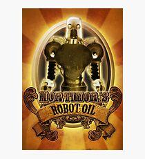 Mortimors Robot Oil. Photographic Print