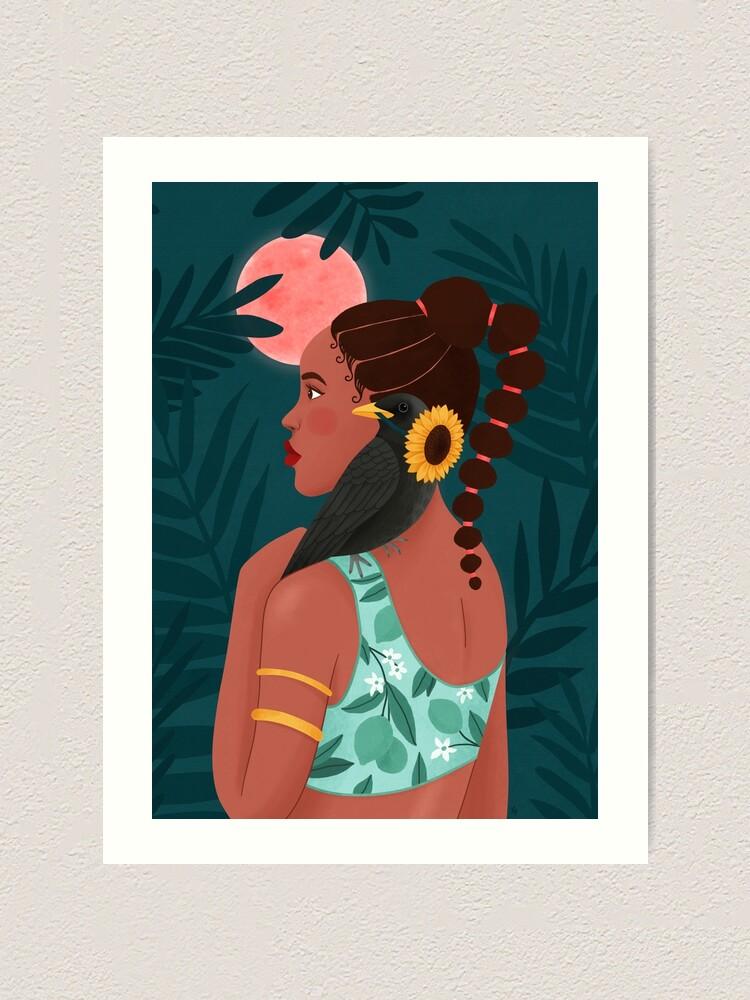 Alternate view of African Princess Art Print