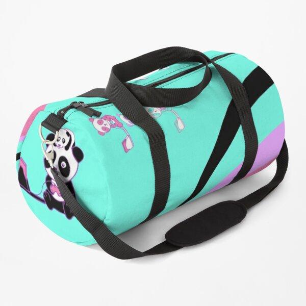 Tricolor Panda Turquoise Duffle Bag