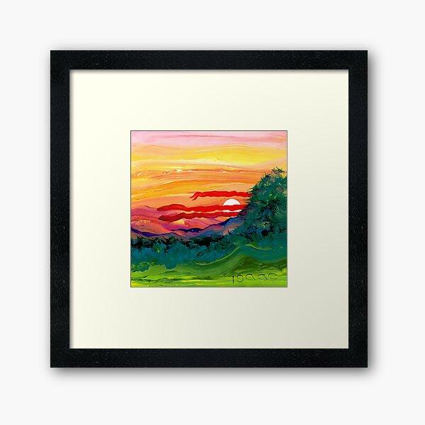 Berg Sonnenaufgang Gerahmter Kunstdruck