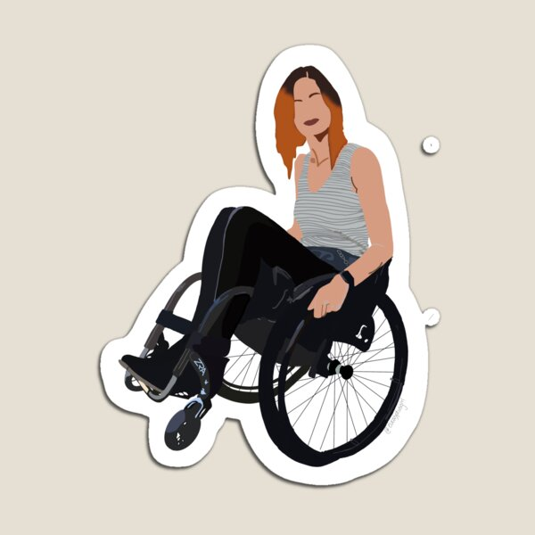Chanda - babe with mobility aid  Magnet