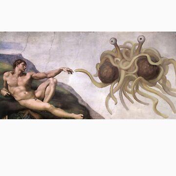 Flying Spaghetti Monster by Jennylea28