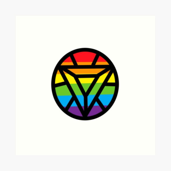 Iron Gay Pride Logo Art Print