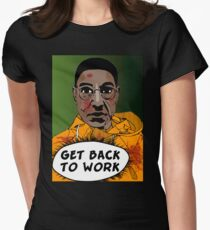 GET BACK TO WORK (Comic version) Womens Fitted T-Shirt