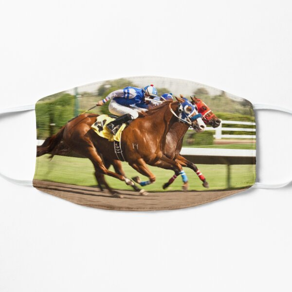 Neck and Neck Heading to the Finish Line Flat Mask