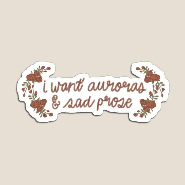Taylor Swift Folklore / I want auroras and sad prose Magnet