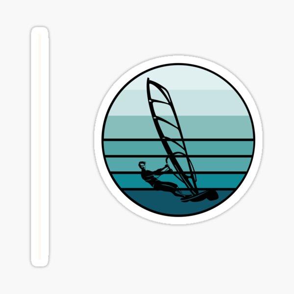 Windsurf - Vintage Blue Sunset Sticker