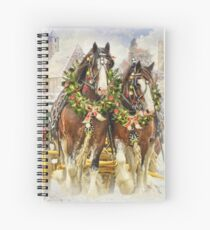 Christmas Clydesdales Spiral Notebook