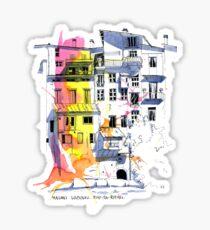 Maisons Suspendu, Pont-en-Royans, France Sticker