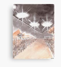Rural UFO Visit Canvas Print