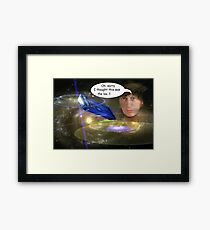 Dr. Who in Trouble Framed Print