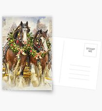 Christmas Clydesdales Postcards