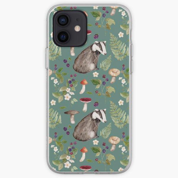 Badger Nature Print iPhone Soft Case