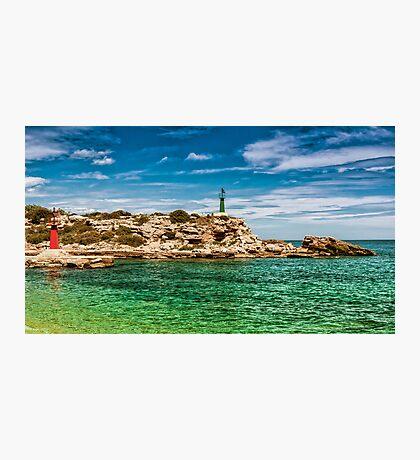 Golden Rock Lighthouse Photographic Print