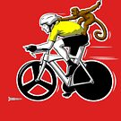 Lance has a Monkey on his Back by RichWilkie