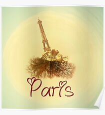 Eiffel tower in love Poster