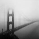 Golden Gate Bridge Black and White Tri-X and Holga by strayfoto
