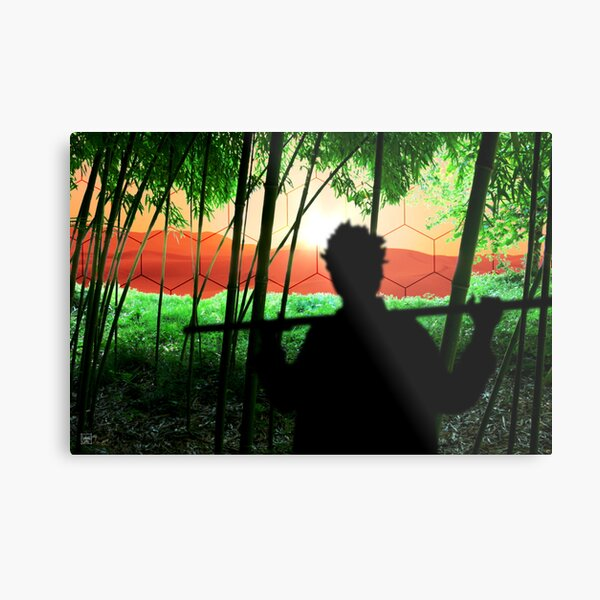 Bamboo Culture on Mars Metal Print