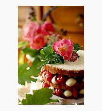 Anne's cake avec la vraie vanille Photographic Print