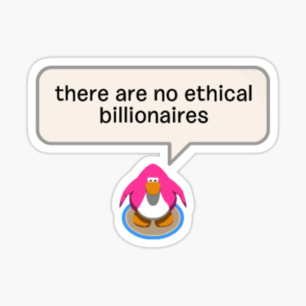 eat the rich penguin Sticker