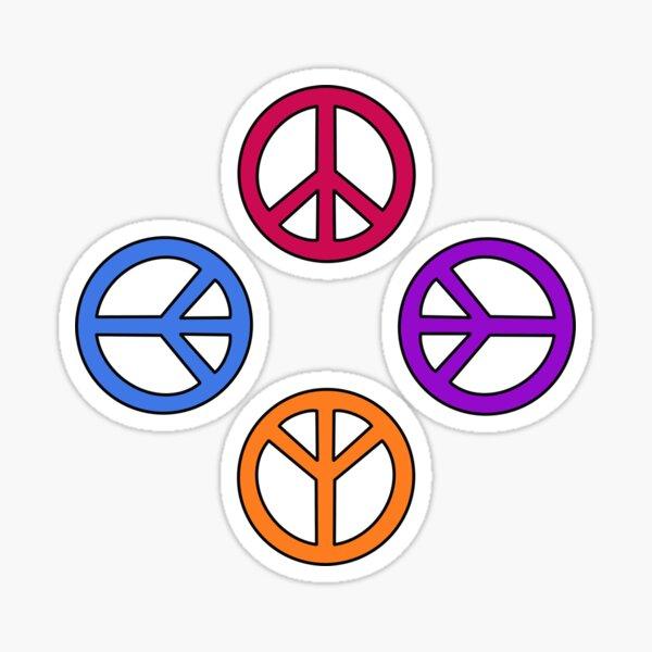 Multi-coloured Peace Pattern Sticker