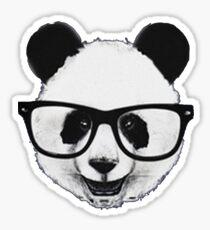 Hipster Panda Sticker