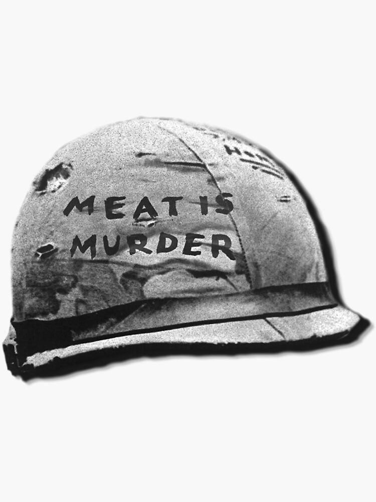 sticker peta Meat is MURDER tasty murder funny decal