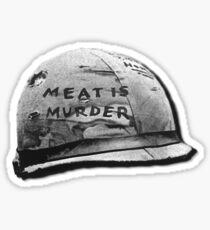 Pegatina Carne es muerte