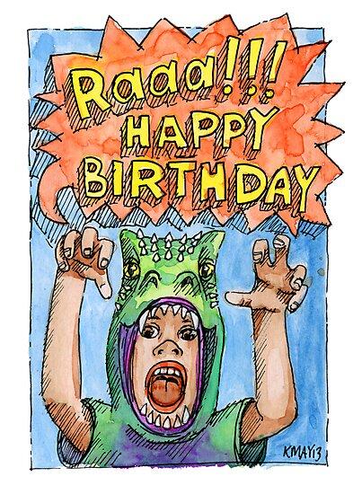 KMAY Hoodkid Dinosaur Boy Birthday by Katherine May