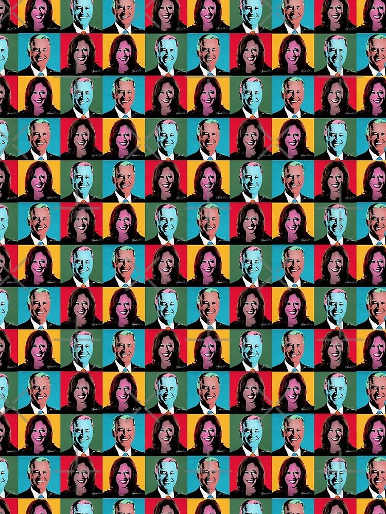 BIDEN HARRIS Pop Art Portrait by popdesigner