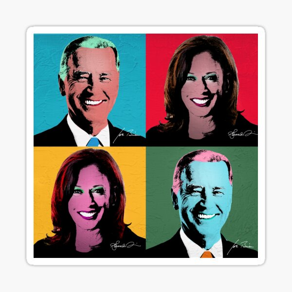 BIDEN HARRIS Pop Art Portrait Sticker