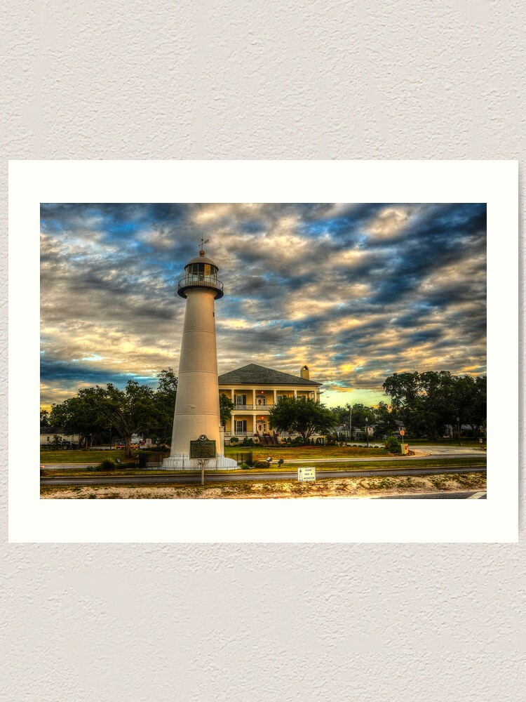 Biloxi Lighthouse And Welcome Center Art Print By Msmcdonald