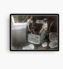 Girls Delivering Ice, 1918 Canvas Print