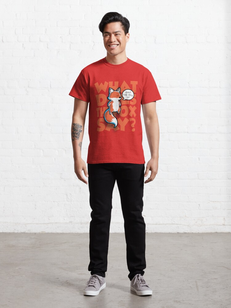 Vista alternativa de Camiseta clásica ¿Qué dice el zorro?