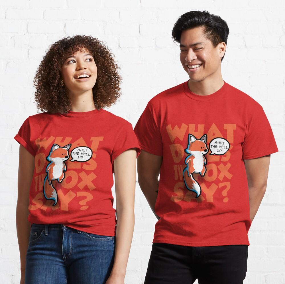 ¿Qué dice el zorro? Camiseta clásica