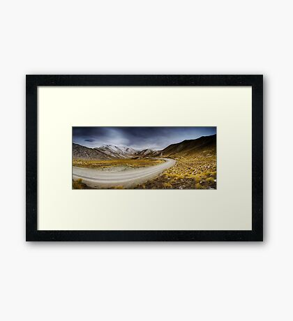 Lindis Pass - NZ Framed Print