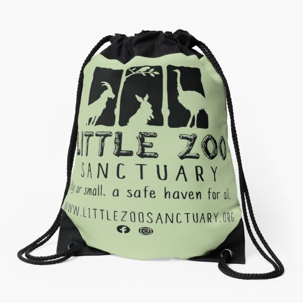 LZS Full Noir Drawstring Bag