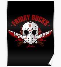 friday the 13th friday rocks Poster