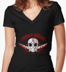 friday the 13th friday rocks Women's Fitted V-Neck T-Shirt