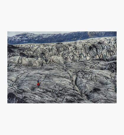 Walkers on a Glacier Photographic Print