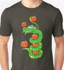 Green Snake Celebrating Christmas Slim Fit T-Shirt