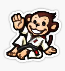 BJJ Monkey Sticker