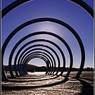 Sculpture at Lake Burley Griffin in Canberra by Wolf Sverak