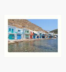 Klima Milos Island Art Print
